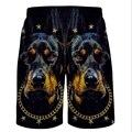 Pantalones cortos para hombre pantalones cortos de Verano de Algodón Pantalones Cortos Pantalones Casuales de La Moda de Los Hombres Playa junta shorts shorts Impreso 2016 nuevo