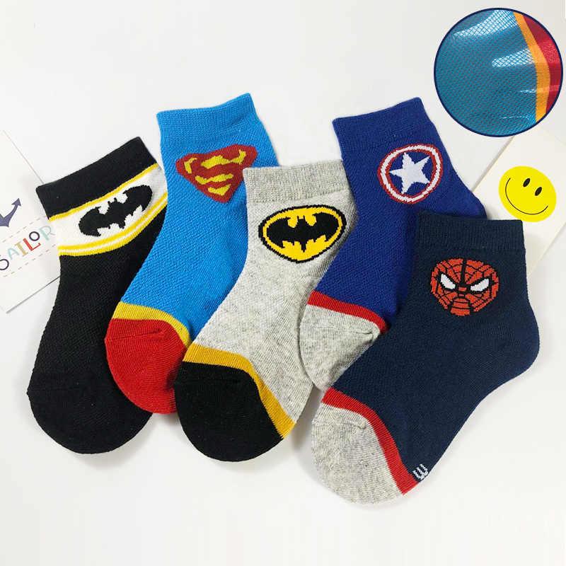 Batman Ironman klasyczne kreskówki lato style czystej bawełny charakter wzór Superheros skarpety męskie szczęśliwy śliczne skarpetki