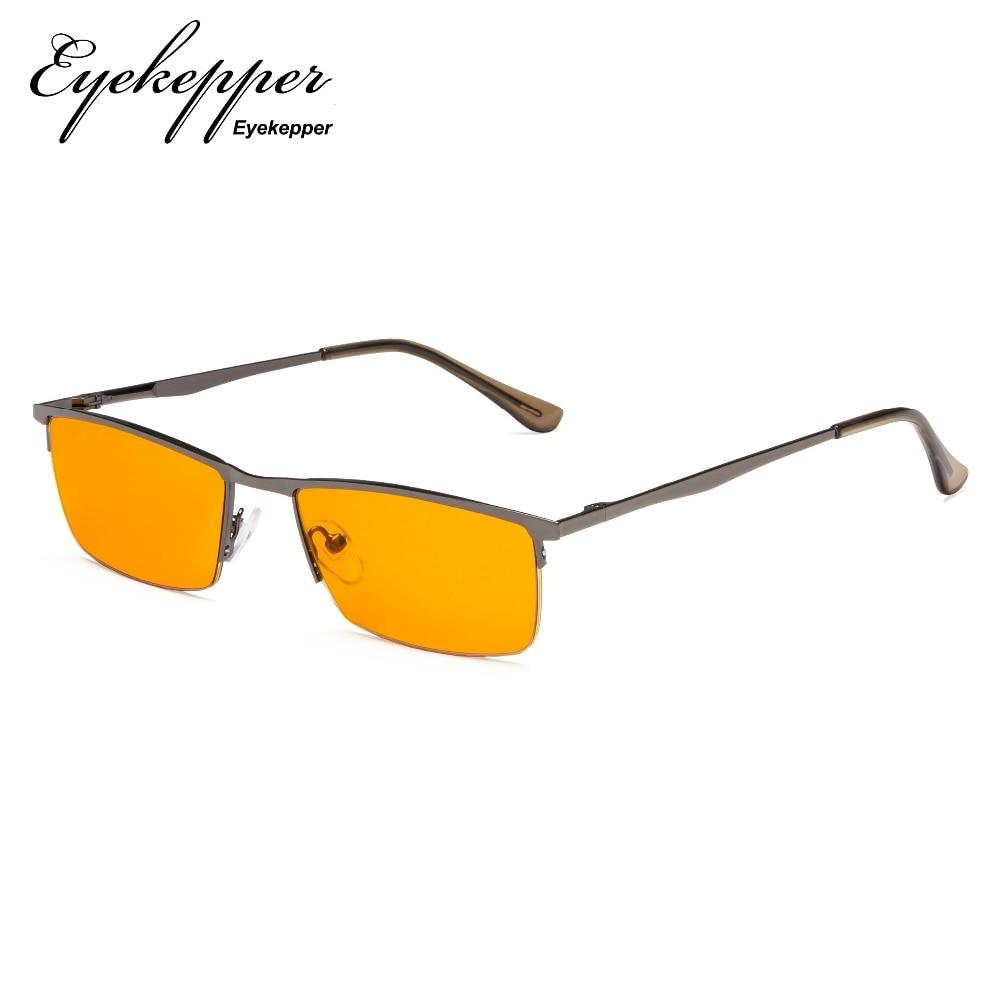 b36c5d049b9 Ds eyekepper blue light blocking glasses half rim computer readers  nighttime eyewear special orange tinted glasses