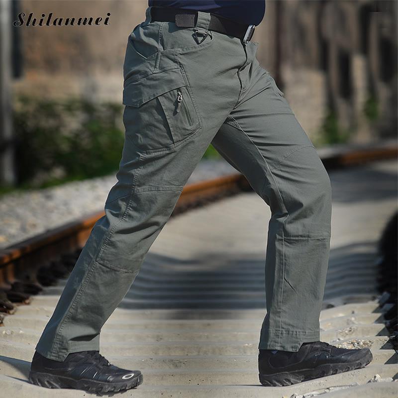 2018 hommes randonnée pantalon Softshell pantalon plein air pantalon homme imperméable montagne Trekking Ski Sport pantalon S-XXXL grande taille - 6