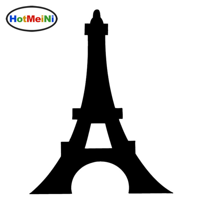 Hotmeini eiffel tower romantic paris france graphic car sticker window bumper door kayak vinyl decal triumphal
