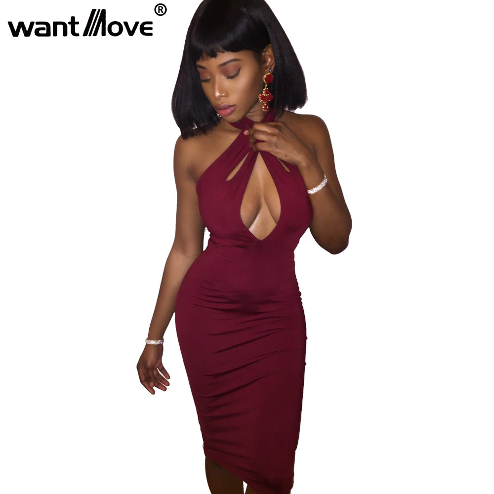 Wantmove <font><b>2018</b></font> Summer <font><b>Sexy</b></font> <font><b>Bodycon</b></font> Women Dress New fashion Hollow Out Vestidos Womens <font><b>Off</b></font> the <font><b>Shoulder</b></font> <font><b>Party</b></font> <font><b>Club</b></font> <font><b>Elegant</b></font> XD778 image