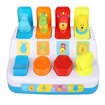 Baby Pop Up Toy Noise Maker Funny Hands-on Activity Toys Educational Pop-UP Animals Early Development Pals 3 Models