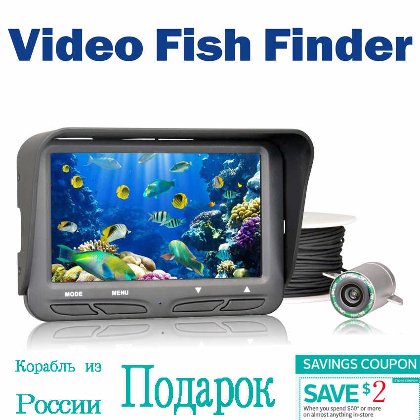 720P Underwater Ice Video Fishing Camera 4.3 inch LCD Monitor 6 LED Night Vision Camera 30m Cable Visual Fish Finder FF118
