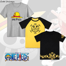 Cute Unicorn 24 styles One Piece T shirt Luffy Ace Law tshirt anime cosplay Men's cotton t-shirt boys clothes summer tops tees