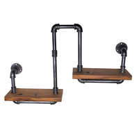 AMERICAN RETRO STYLE TO DO THE OLD INDUSTRIAL PIPES INNOVATIVE DESIGN WROUGHT IRON SHELVES DISPLAY SHELVES