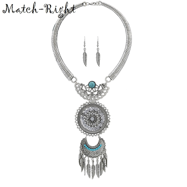 Match-Right Women Necklace Vintage Statement Necklaces Pendants Bohemia Jewelry Leaves Necklace Women AccessoriesNL582