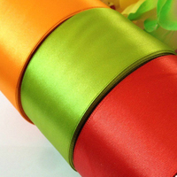 [100yards/roll, 50mm 100mm] 2 Double face pretty wide satin Ribbon Christmas tape for craft, packing, wedding decoration