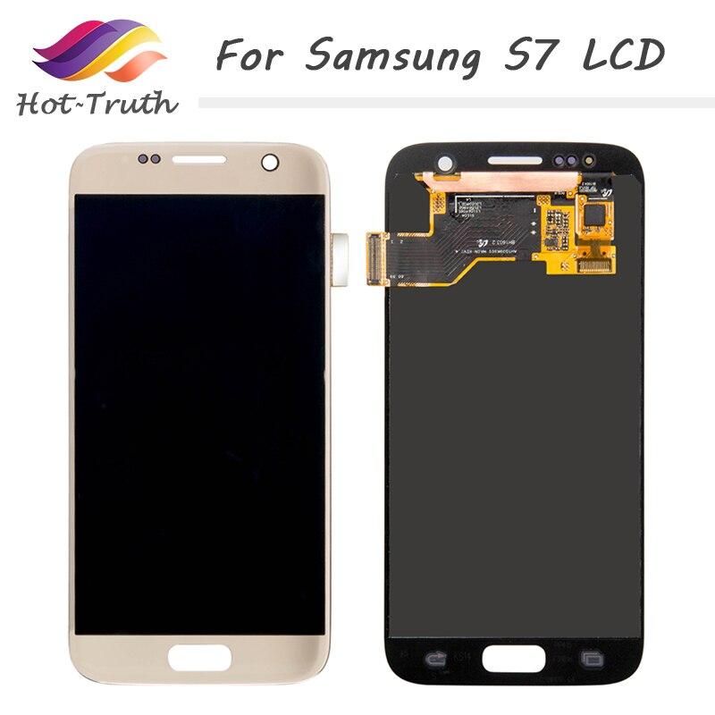 Лидер продаж правда 5 шт./лот оригинальный ЖК дисплей Экран Pantalla для samsung Galaxy S7 G930A G930F SM G930F ЖК дисплей Дисплей оцифровать Сенсорный экран