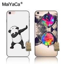 MaiYaCa panda dab cats fish animals For iPhone 5s 6s 6splus 7 plus case Black Soft TPU silicone Phone Case Accessories Cover