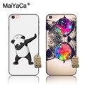 Maiyaca Panda gatos peces animales para iPhone 5S 6 s 6 splus 7 más caso negro suave TPU Silicona teléfono Accesorios cubierta