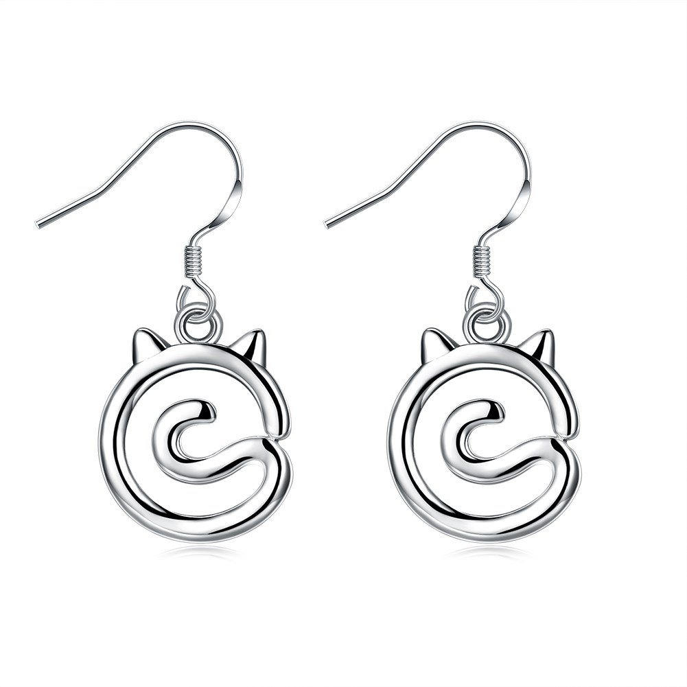 New Design Fashion Jewelry Silver Plated Dangle Earrings