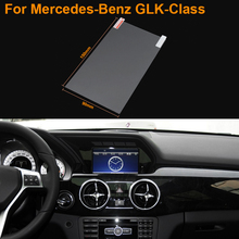 Car Styling 7 Inch GPS Navigation Screen Steel Protective Film For Mercedes-Benz GLK-Class Control of LCD Screen Car Sticker