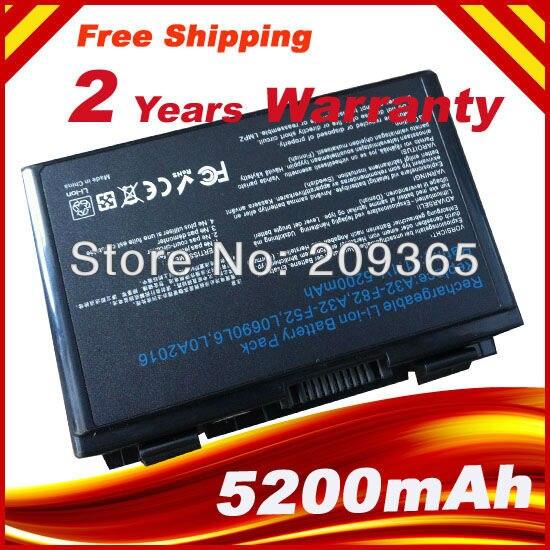 6 CELLULES 5200 mAh batterie de remplacement pour ordinateur portable pour ASUS K50I K50ID K50IJ K50IN A32-F82 X8B X8D Ordinateur Portable, Livraison gratuite