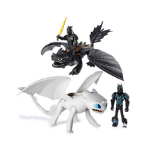 Hot How to Train Your Dragon 3 Toothless Light Fury night fury PVC Can move Collectible Action Figure Toys For Children