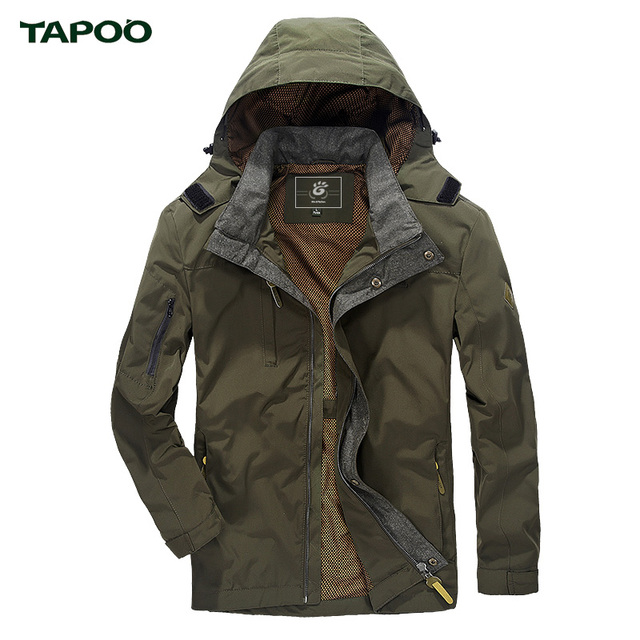 TAPOO 2017 Military Style Men Jacket With Hood Spring Windbreaker ...