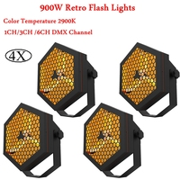 4Pcs/Lot 900W Retro Flash Light Disco DJ Sound Light DMX512 Perfect Combine Modern Technology With Retro Flash Light Stage Light