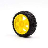 diy car Kuongshun Robot Smart Car Wheel For Arduino Smart Car Diy Kits TT motor / DC motor Wheel (2)