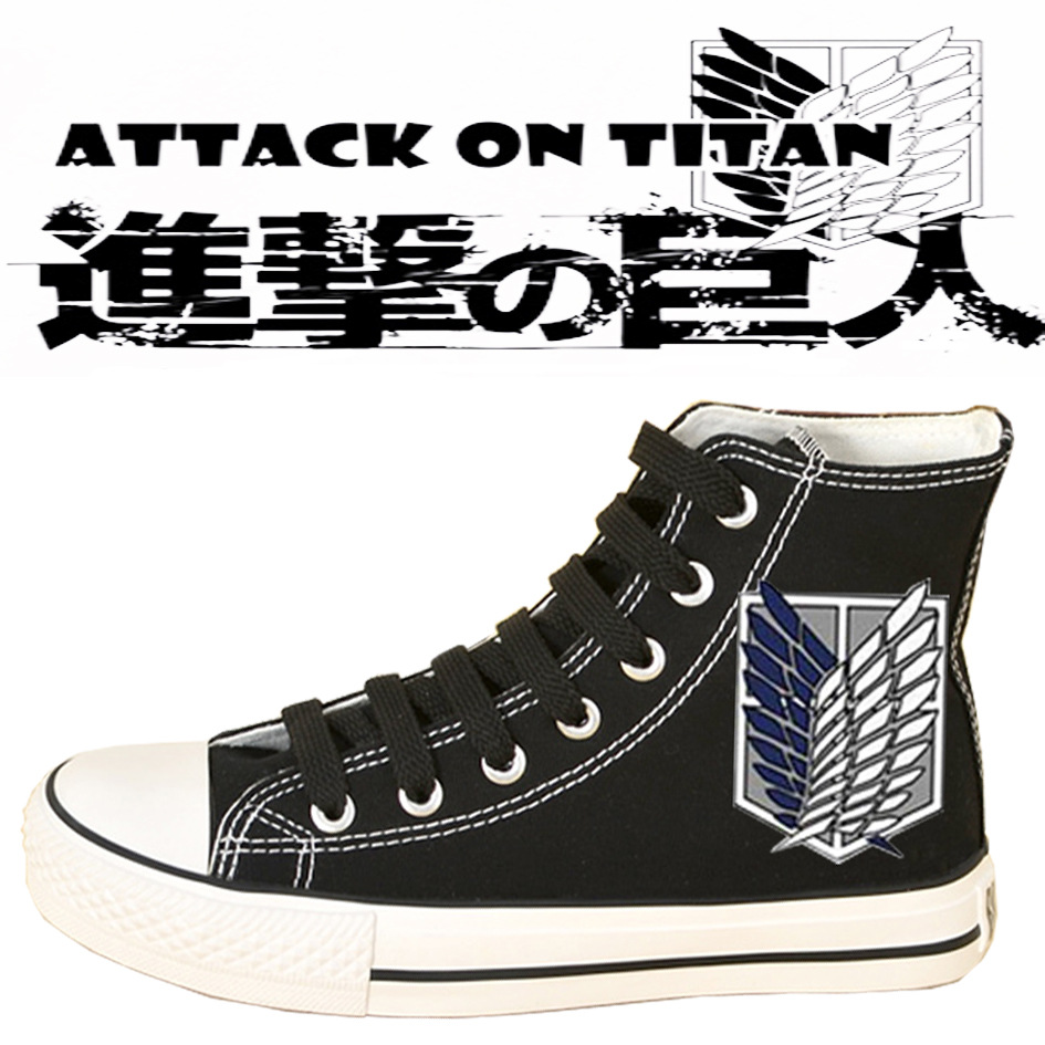 Attack on Titan Cosplay Canvas shoes High quality Custom made Shingeki no  kyojin Attack on Titan Giant cosplay -in Shoes from Novelty   Special Use  on ... 0e59fc10b