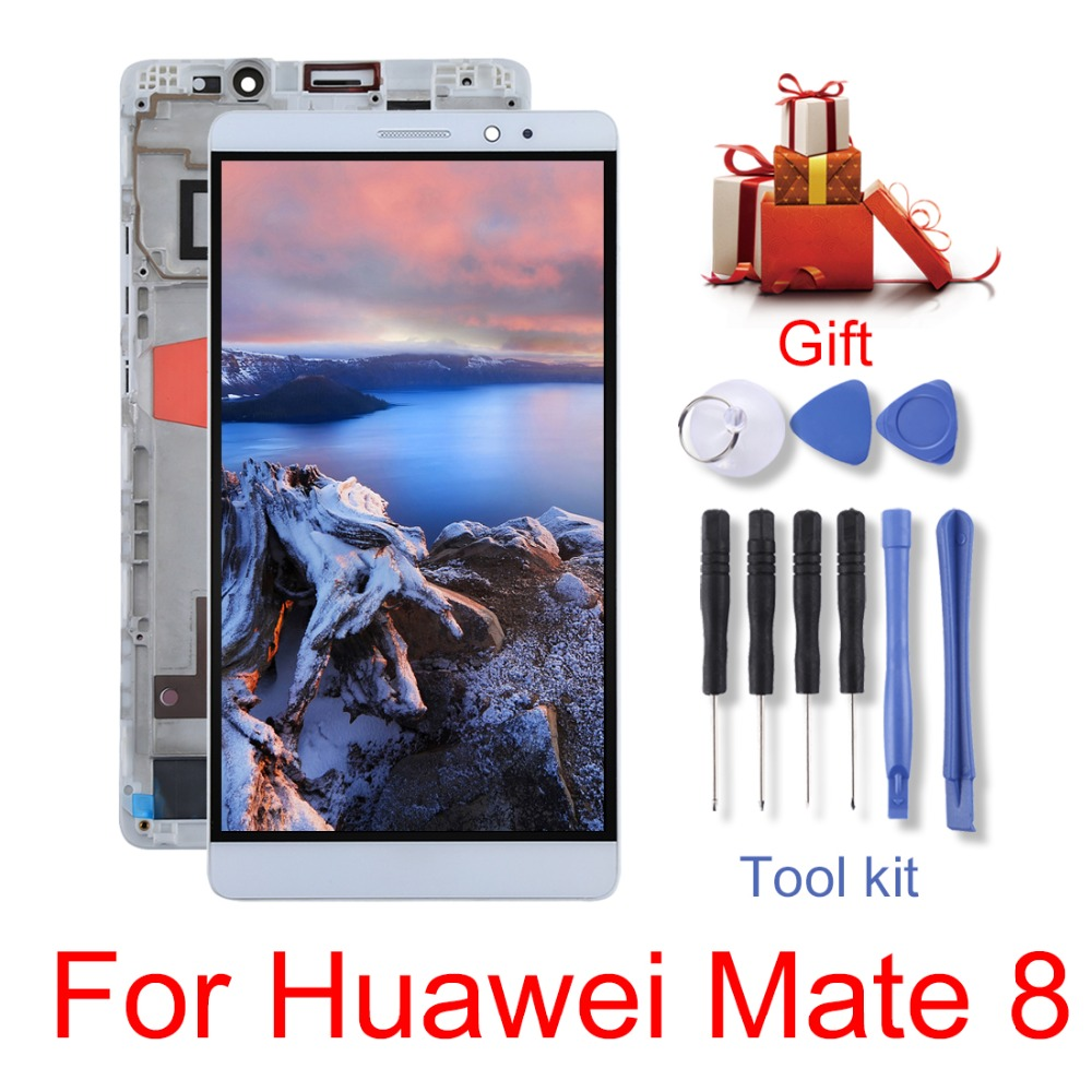 New  for Huawei Mate 8/P10 Lite / Nova Lite/Mate 9 Pro LCD Screen and Digitizer Full Assembly with Frame repair