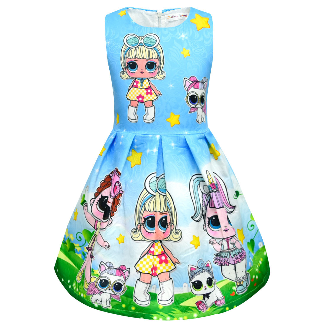 532b79e0d56 LOL baby girl princess birthday party lotus leaf vest children s dress  high-end surprise doll tutu girl summer dress wedding