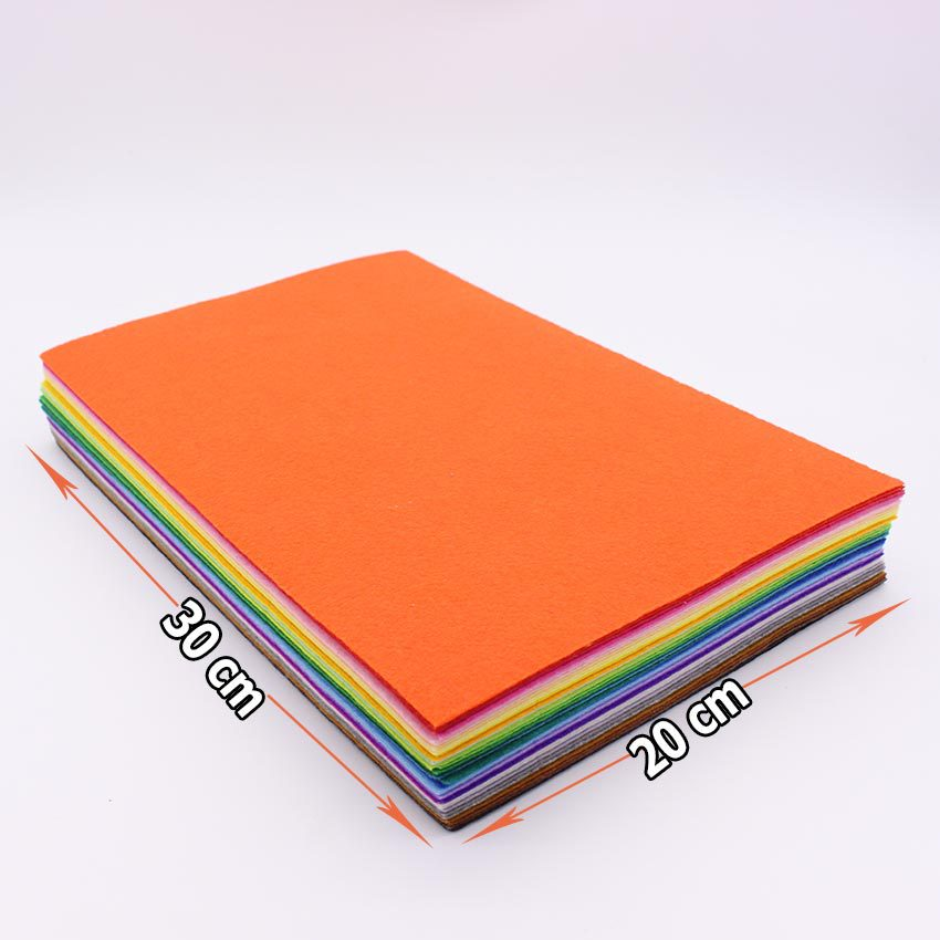 CMCYILING 40 Colors 1mm Hard Polyester Nonwoven Felt Fabrics For Needlework Diy Needle Sewing Felt DIY Craft Feltro