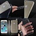 Чехол пластик, кристалл жёсткая прозрачный прозрачный черный белый задняя часть чехол для iphone 6 6 G 6 + большой 4,7 5,5 дюйма