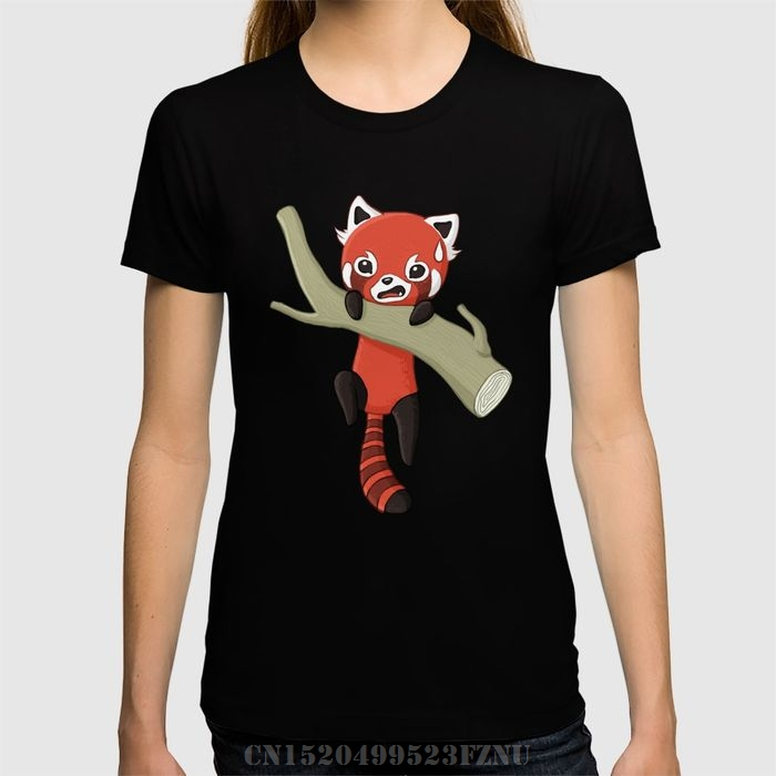 2017 Surprise price t shirts girl Red Panda Short Character Knitted tees homme Clothing