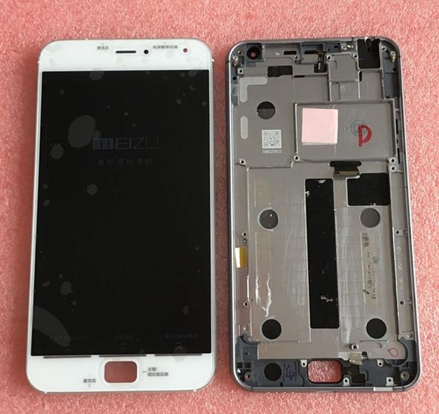 """100% Geniune Testado LCD Screen display + Digitador Touch com quadro Para 5.5 """"mx4 meizu pro 4 pro frere transporte branco ou preto"""