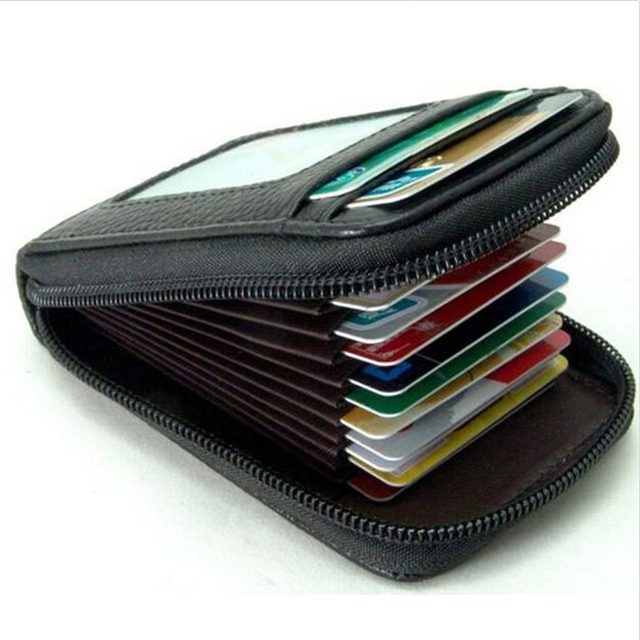 Men / Women Fashion Mini Leather Wallet Cards Holder
