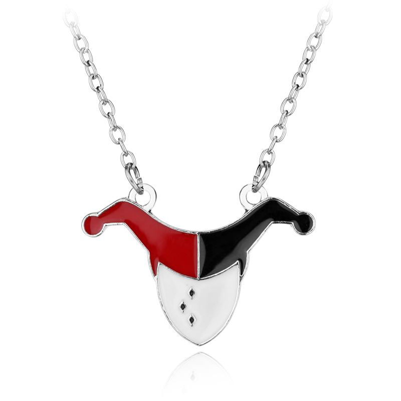 dongsheng Hot Sale Suicide Squad Harley Quinn Joker Charm Pendant Necklace For Women Gift Movie Jewelry -30