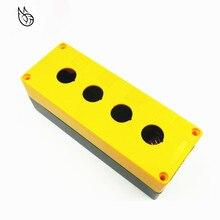 цена на Three Holes 22mm BX4-22 Equipment Lift Elevator Urgent Emergency Stop Control Push Button Switch Box Fireproof Waterproo