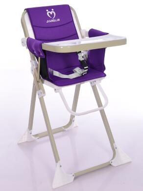 Free shipping baby chair. The portable foldable children table the silver chair