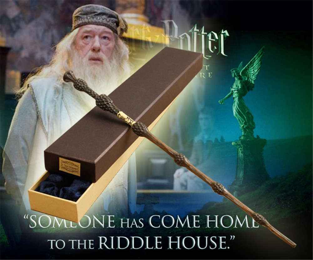 2016 With Iron Core New Quality Deluxe COS Harri Potter   Albus Dumbledore Magic Wand Of Magical Wands With Gift Box Packing