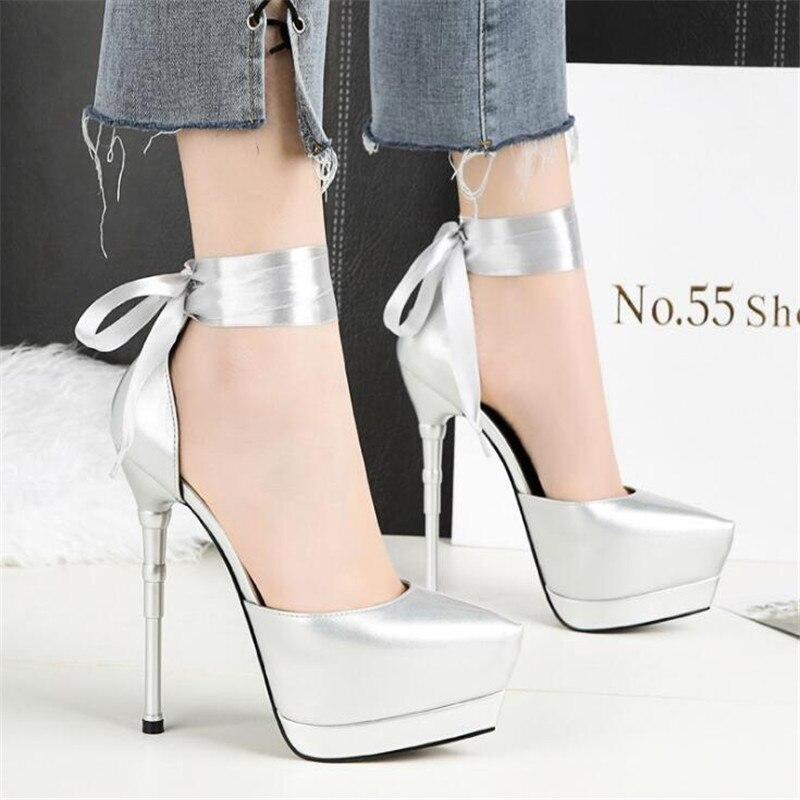 Mit Schuhe 2 Absätzen Frauen 3 Sexy 1 Schuhe Sharp Heel 4 Mode Wasserdichte Und Hohen Dünne High Tisch Nachtclub wZHp7xP6
