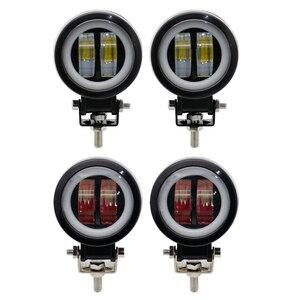 Image 4 - 3inch LED Off raod Lights Work Lamps 12V 24V 6500K 20W with Angel Eyes Lights spot fog light Car Boat Motorcycle LED Work Light