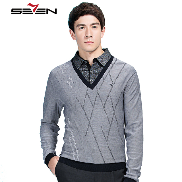Aliexpress.com : Buy Seven7 High Quality Mens Knitted Sweaters ...