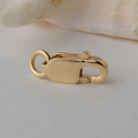 solid 18k gold clasp lobster claw trigger buckle for necklace bracelet jewelry findings,3.2*8mm 18ct yellow gold stamp 750