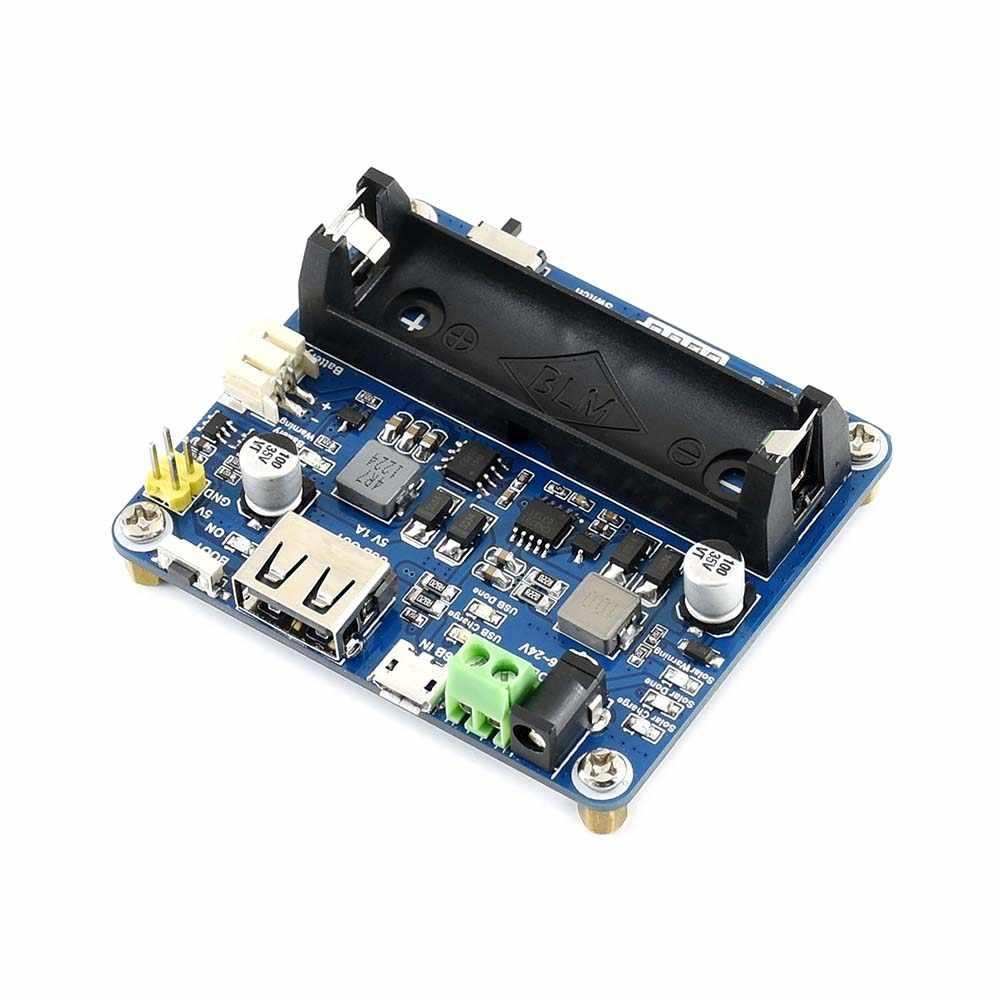 Waveshare Solar Power Management Module for 6V~24V Solar Panel Supports  MPPT function USB connection battery charging