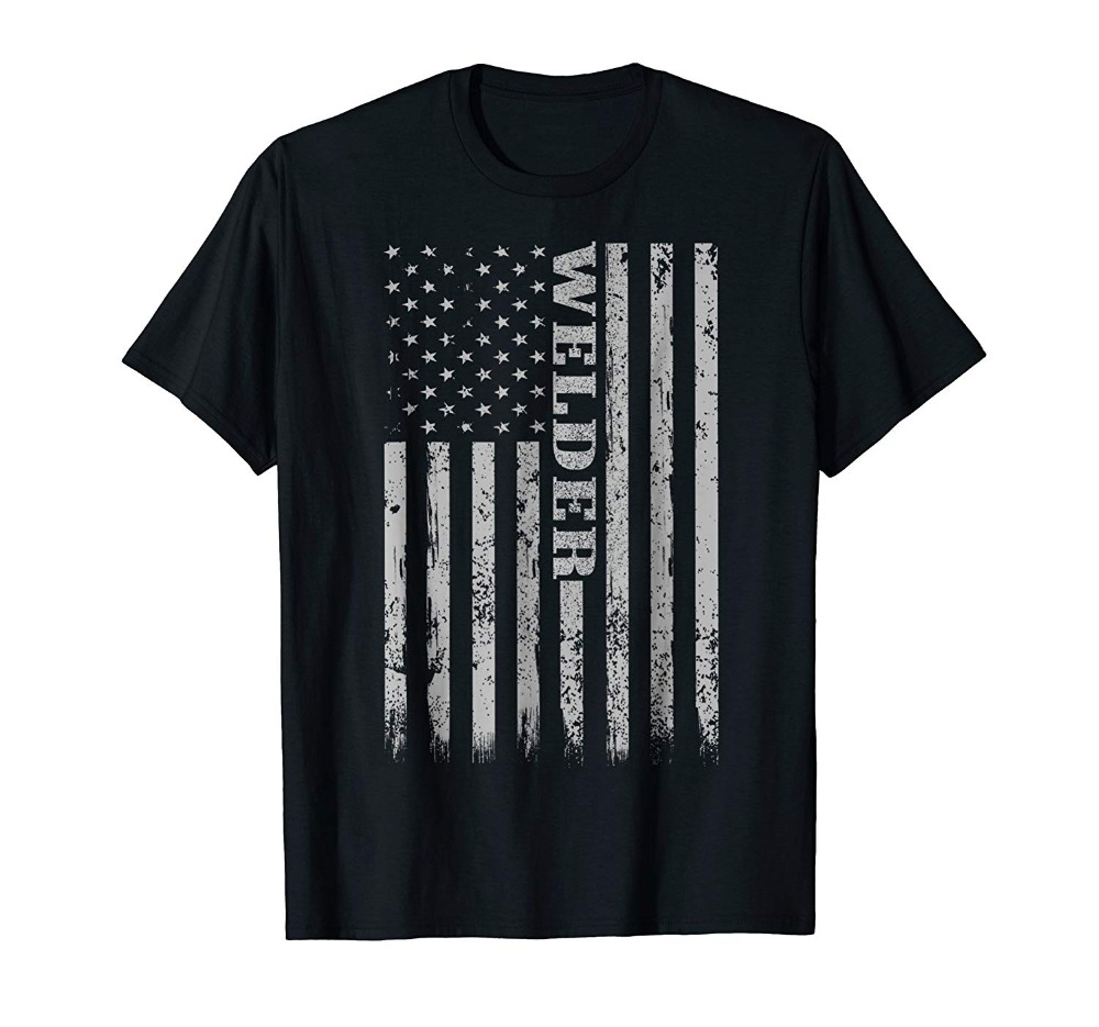 Мужская футболка с американским флагом, Сварочная Mig рубашка, свитшот, новинка 2019