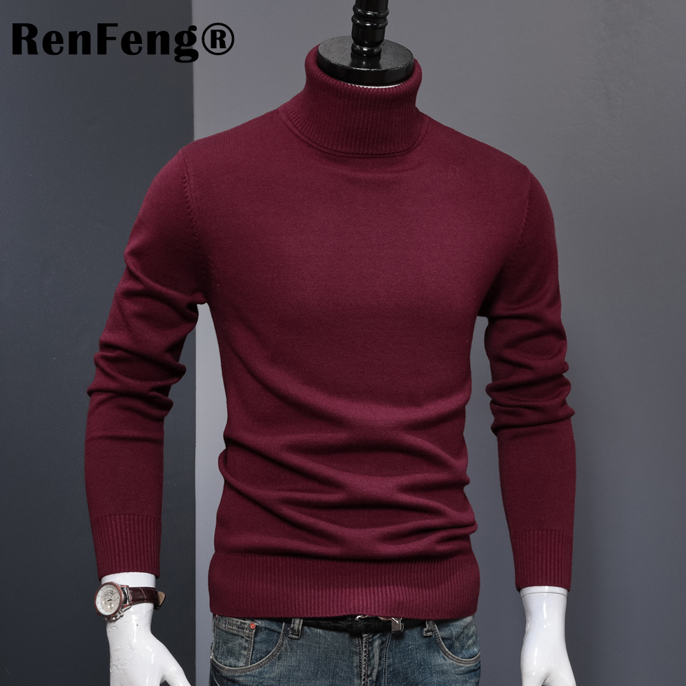 Winter Thick Warm Cashmere Sweater Men Turtleneck Mens Sweaters 2018 Slim Fit Pullover Men Classic Wool Knitwear Pull Homme (7)