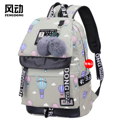 695eb8fd1de5 Товар 2018 female fashion school backpack usb school bags for girls ...