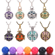 Silver Gold And Bronze Mexico Chime Music Ball Locket Necklace Pregnancy for Aromatherapy Essential Oil Pregnant Women