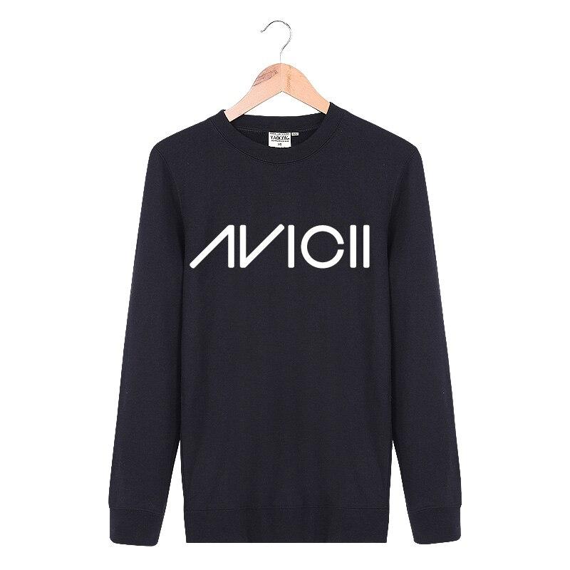 New 2017 Autumn winter Casual Crewneck Pullover No Hoody Tracksuit Punk Hip Hop Printed Avicii Rock Band Sweatshirt Men XXL