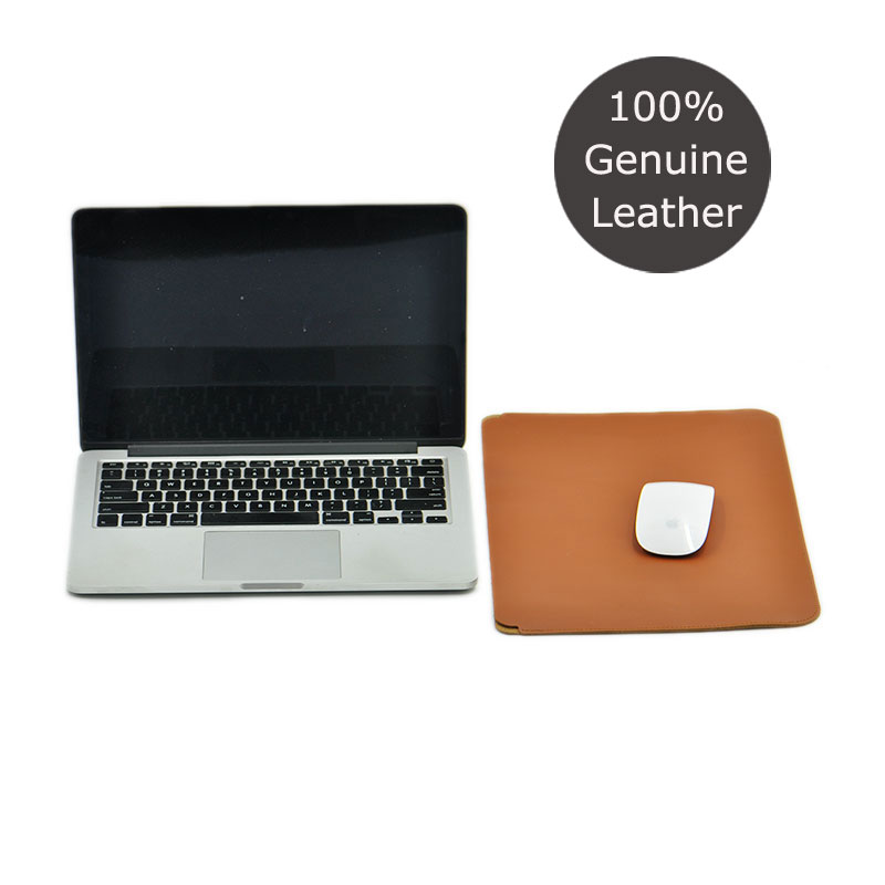 Simplicity and super slim 100 Genuine leather Laptop bag case Sleeve for Apple MacBook Air Pro