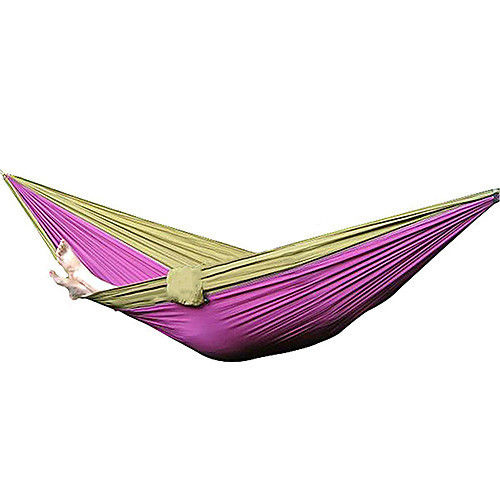 Hot Sale Nylon Fabric Hammock Travel Sleeping Camping For Double Two Person 2 people portable parachute hammock outdoor survival camping hammocks garden leisure travel double hanging swing 2 6m 1 4m 3m 2m