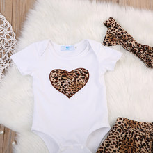 2018 Infant Baby Girl Top Pagliaccetto Del Leopardo Pannello Esterno del Tutu Dress Outfits Vestiti Set Estate tendenza moda selvaggio caratteristiche(China)