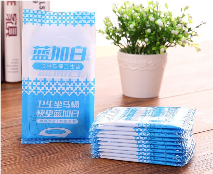 Free Shipping Kawaii 10pieces/pack Travel 38cmx44cm Disposable Toilet Mats Health Life Independent Packaging