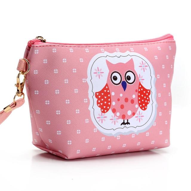 Cartoon Owl Printing Make Up Bag Women Waterproof Cosmetic MakeUp Bag Travel Organizer for Toiletries Toiletry Kit Necessaire