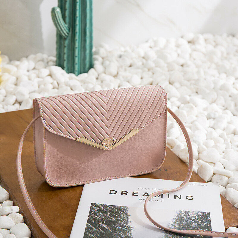 New Style Women PU Leather Handbag Lady Fashion Solid Hasp Cross Body Flap Bag Tote Messenger Satchel Purse
